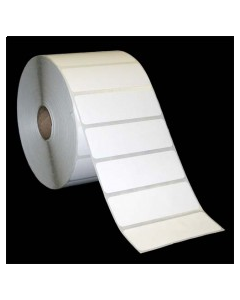 """3 x 1, 1-Across, Thermal Transfer Labels, White, Paper, Perm, perf, Core ID/OD 1""""/5"""", 2580/Roll, 6 Rolls/Case, 15480/Case, Price/Case - L-ST-30101P51"""