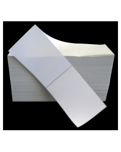 4 x 6.5, 1-Across, Direct Thermal Labels, Premium Fanfold, White, Paper, Perm, perf, Fanfold, 2500/Stack, 2 Stacks/Case, 5000/Case, Price/Case - L-DT-40651F