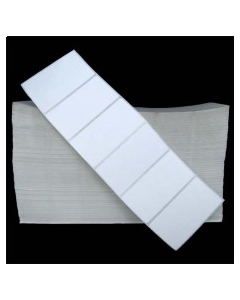 4 x 2, 1-Across, Direct Thermal Labels, Standard Fanfold, White, Paper, Perm, perf, Fanfold, 6000/Stack, 2 Stacks/Case, 12000/Case, Price/Case - DSP400200F1F00B