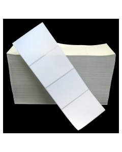4 x 3, 1-Across, Direct Thermal Labels, Premium Fanfold, White, Paper, Perm, perf, Fanfold, 8000/Stack, 1 Stacks/Case, 8000/Case, Price/Case - RD-4-3-8000-FF