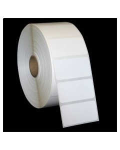 """2 x 1, 1-Across, Thermal Transfer Labels, White, Paper, Perm, perf, Core ID/OD 1""""/4"""", 1375/Roll, 12 Rolls/Case, 16500/Case, Price/Case - RT-2-1-1375-1"""