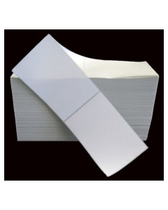 4 x 6, 1-Across, Direct Thermal Labels, Premium Fanfold, White, Paper, Freezer-Grade, perf, Fanfold, 2500/Stack, 2 Stacks/Case, 5000/Case, Price/Case - L-DF-40601F