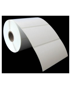 """4 x 2, 1-Across, Thermal Transfer Labels, White, Paper, Perm, perf, Core ID/OD 1""""/4"""", 730/Roll, 16 Rolls/Case, 11680/Case, Price/Case - 4020DD1T10"""